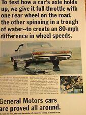 "1965 Pontiac Bonneville 4 door hardtop-Testing Axle Original Print Ad 8.5 x 11"""