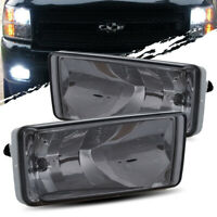 For 07-13 Silverado 1500/07-14 2500/3500HD LH/RH Smoke Fog Lights Driving Lamps