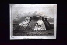 Teocali in Tehuantepec, Guatemala Incisione del 1850 L'Univers pittoresque