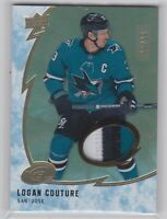 19/20 ICE...LOGAN COUTURE...GOLD 3 COLOR PATCH.../15...CARD # 12...SHARKS