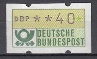 BRD 1981 Automaten-Freimarke 40er Postfrisch gelbe Gummierung ohne Nr. (21380)