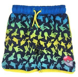 Pokemon Pikachu Boys Board Shorts Swim Trunks Swimwear Size XL 14/16 NWT