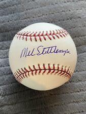 Mel Stottlemyre Signed Autographed Baseball New York Yankees Mets