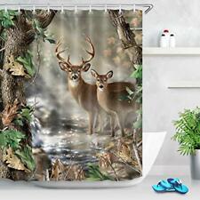 Wildlife Deer Shower Curtains for Bathroom Decor Hunting Camo Shower Curtain