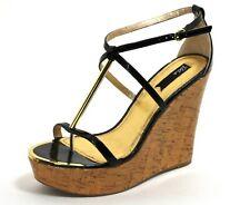 424 Zapatos de Tacón Charol Mujer Elegante Tacones Altos Blink Cuñas Cuña 40