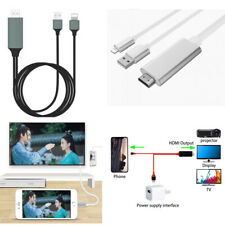 6 Feet 1080p HDMI HDTV AV Adapter Cable For iPhone 5/6/7/8/XS Max