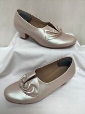 HOTTER DONNA Pearlescent Court Shoes UK5 EU38 FREE P&P