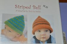 Striped Bell  Felted Hat  Knitting Pattern by Pick Up Sticks baby to adult