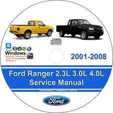New listing Ford Ranger 2001-2008 2.3L 3.0L 4.0L Factory Workshop Service Repair Manual