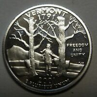 2001-S Vermont Gem DCAM Silver Proof State Quarter Stunning Coin