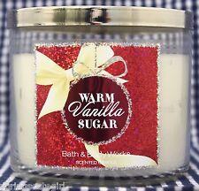 1 Bath & Body Works WARM VANILLA SUGAR 3-Wick Scented 14.5 oz Candle