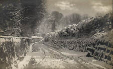 Epsom. Chalk Lane. Snow in April 1908 by Mills.
