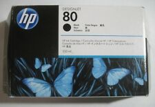 2018 GENUINE HP 80 Black Ink Cartridge 350ml (HP C4871A) 1000 1050 1055 NEW SEAL
