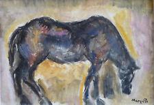 Jean MARZELLE (1916-2005) HsT Signée Nouvelle Ecole de Paris Jeune Peinture