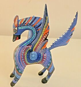 Beautiful Pegasus hand carved/hand painted Alebrije from Oaxacan, Mexico NEW