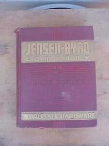 1938 Jensen Byrd Hardware & Sporting Goods Catalog Spokane WA 1398 Pages
