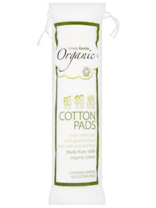 Organic Cotton Pads, 100 Pads (Simply Gentle)