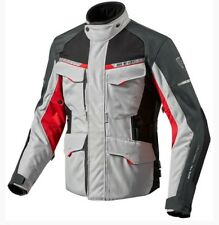 GIACCA MOTO OUTBACK 2 ARGENTO ROSSO REV'IT SIZE M