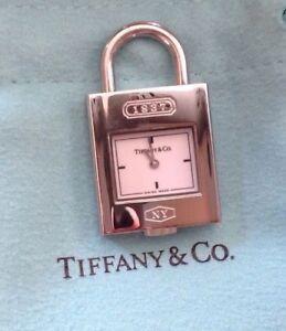 Tiffany & Co 1837 lock watch clock pendant charm never used