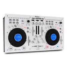 DJ STATION DUAL CD PLAYER DECK MP3 DIGITAL MIXER EFFECTS CUE PITCH SCRATCH LOOP