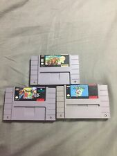 Lot Of 3 Super Nintendo Games Snes Mario Kart World Battle Toads Double Dragon