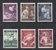 Österreich 1954 ANK 1008-1013 / Michel 999-1004 Gesundheitsfürsorge postfrisch