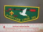 Boy Scout OA O-Shot-Caw Lodge 265 35th Anniv Flap 1031Z
