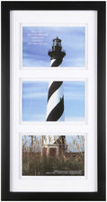 set of 2 Black Gallery 3 Open 4x6 collage Frame Wall Picture Photo Home Decor