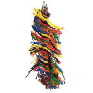 HAPPY PET ROPE PARROT PREENER  HANGING TOY HELPS UNWANTED FEATHER PLUCKING 702