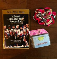 Lot Gymnastics Gymnast Girls items 1996 Olympics Team Book Hair bow Mirror case