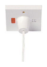 50 Amp DP Ceiling Pull Switch with ON/OFF & Neon ideal for Electric Showers