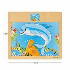 Montessori Toys Educational Wooden Toys for Children Early Learning 3D Cartoon