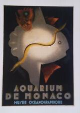 DOCUMENT AFFICHE Art Deco Aquarium de Monaco Jean Carlu