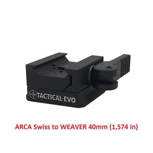Adapter ARCA Swiss to WEAVER 40mm (1,575in) (picatinny rail)