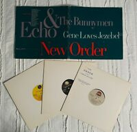 "Echo & the Bunnymen, New Order, Gene Loves Jezebel 12"" single Promo pack"