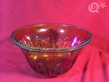 Vintage Large Carnival Glass Iridescent Glassware Punch Bowl