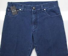NWT New * CESARE ATTOLINI * Dark Wash Straight Fit Stretch Jeans 32 x 35