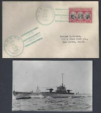 US NAVY 1932 SUBMARINE HAWAII USS NARWMAL V5 AT PEARL HARBOR GREEN CANCELATION