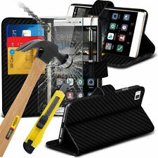 Carbon Fiber Mobile Phone Wallet Cases for Sony Xperia Z5