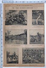 1906 Inde Imprimé ~ Perse Picnic Shiraz Persia Groupe de Kachins Burma Manipur