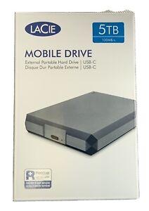 LaCie Mobile Drive 5TB External Hard Drive Portable HDD USB-C USB 3.0,