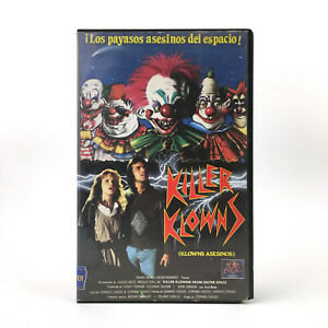 KILLER KLOWNS FROM OUTER SPACE Stephen Chiodo 1988 TERROR SCI-FI COMEDY CULT VHS