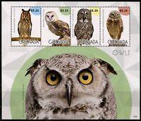 GRENADA  2015 OWLS  SHEET MINT NH