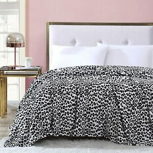 ❤️NWT - BETSEY JOHNSON - KING LEOPARD PINK Ultra Soft Plush Blanket - LAST 1!!❤️