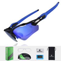 RockBros Cycling Fish Outdoor Glasses Polarized Sunglasses Black Blue Goggles