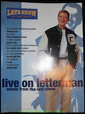 DAVID LETTERMAN Music From THE LATE SHOW POSTER 18x24 In. COMEDY Talk Show Promo