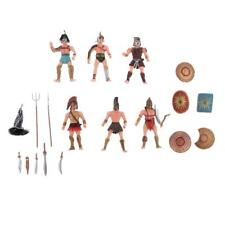 Pack of 6 Ancient Roman Gladiator Medieval Military Action Figure Models Toy