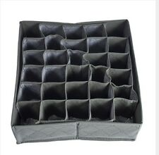NEW 30 Cells Bamboo Charcoal Ties Socks Drawer Closet Organizer Storage Box FE