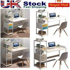 Computer Desk Corner Table  L-Shaped PC Laptop Drawers 4Tier Shelves Home Office