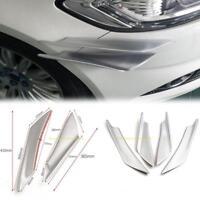 4pcs Universal Car Front Bumper Body Sticker Fins Decor Spoiler Canards Splitter